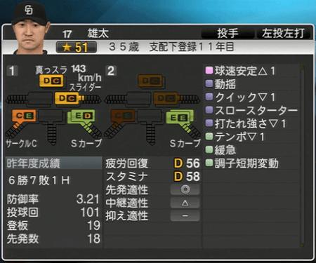 雄太 プロ野球スピリッツ2015 ver1.10