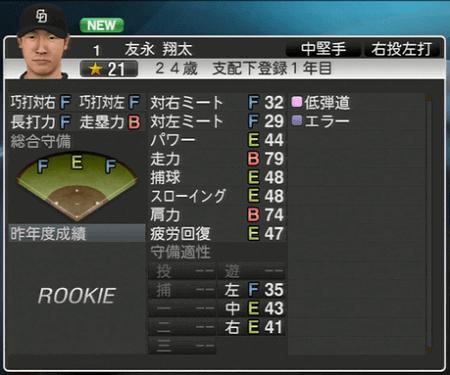 友永翔太 プロ野球スピリッツ2015 ver1.10