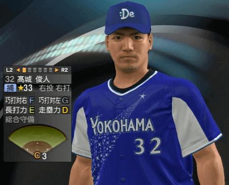 高城俊人 プロ野球スピリッツ2015 ver1.10