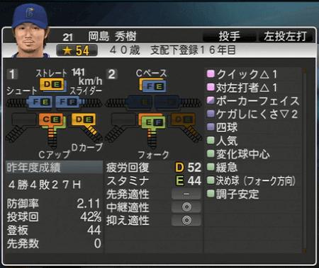岡島秀樹 プロ野球スピリッツ2015 ver1.10
