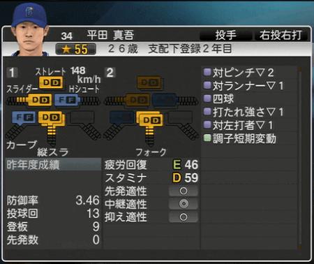 平田真吾 プロ野球スピリッツ2015 ver1.10