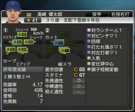 高崎健太郎 プロ野球スピリッツ2015 ver1.10
