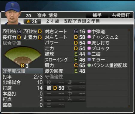 嶺井博希 プロ野球スピリッツ2015 ver1.10
