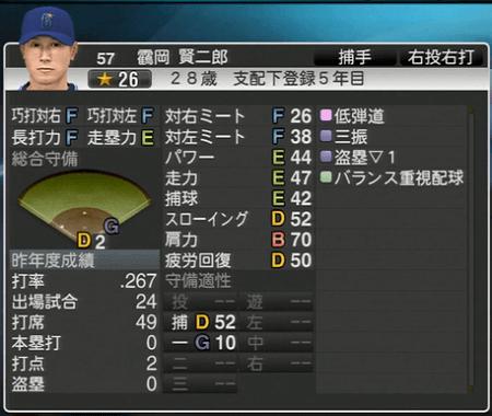 靍岡賢二郎 プロ野球スピリッツ2015 ver1.10