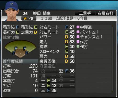柳田殖生 プロ野球スピリッツ2015 ver1.10