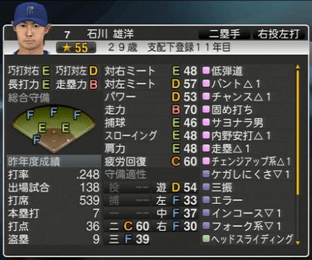 石川雄洋 プロ野球スピリッツ2015 ver1.10