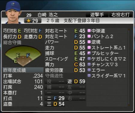 白崎浩之 プロ野球スピリッツ2015 ver1.10