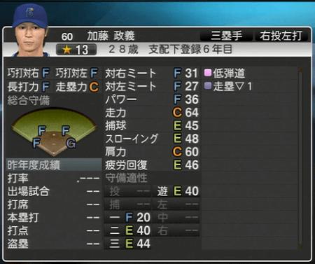 加藤正義 プロ野球スピリッツ2015 ver1.10