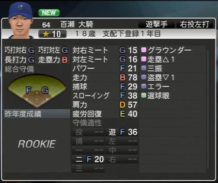 百瀬大騎 プロ野球スピリッツ2015 ver1.10
