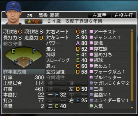筒香嘉智 プロ野球スピリッツ2015 ver1.10