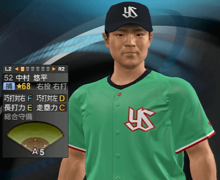 中村悠平 プロ野球スピリッツ2015 ver1.10