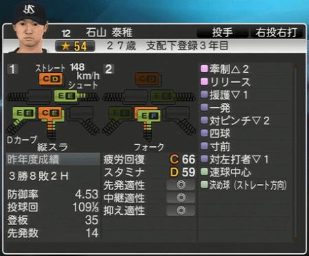 石山秦雄 プロ野球スピリッツ2015 ver1.10