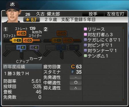 久古健太郎 プロ野球スピリッツ2015 ver1.10