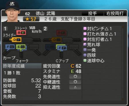 徳山武陽 プロ野球スピリッツ2015 ver1.10