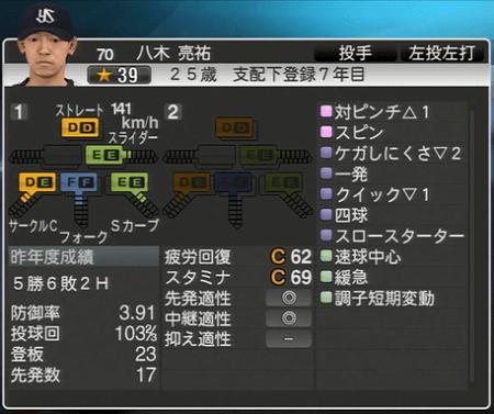 八木亮祐 プロ野球スピリッツ2015 ver1.10