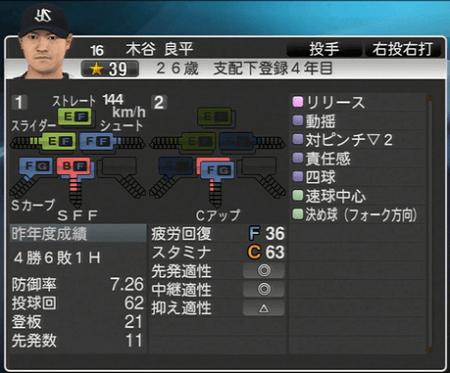 木谷良平 プロ野球スピリッツ2015 ver1.10