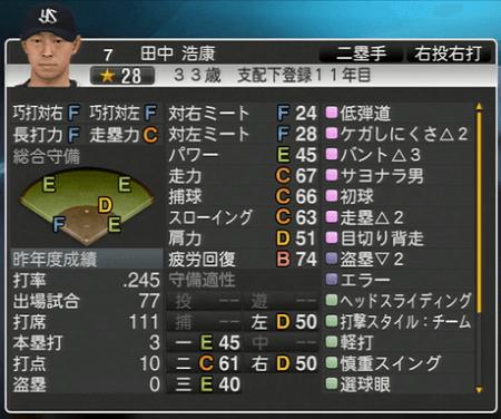 田中浩康 プロ野球スピリッツ2015 ver1.10