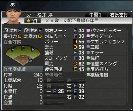 松井淳 プロ野球スピリッツ2015 ver1.10