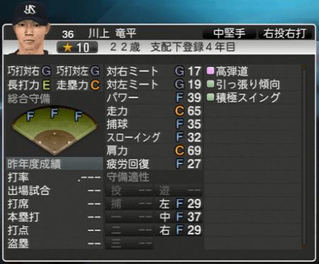 川上竜平 プロ野球スピリッツ2015 ver1.10