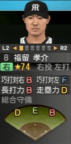 福留孝介 プロスピ2015