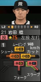 岩田稔 プロスピ2015