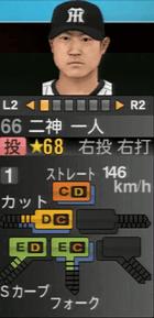 二神一人 プロスピ2015