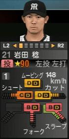 岩田稔2019年プロスピ2015