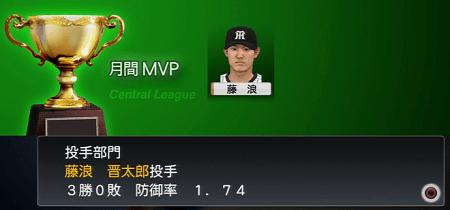 藤浪晋太郎が月間MVPを取る 2020年プロスピ2015
