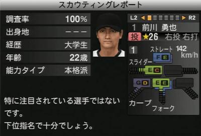 前川勇也 プロ野球スピリッツ2015
