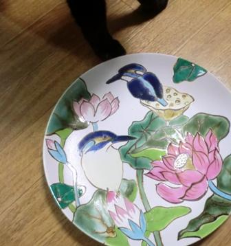 カワセミ皿