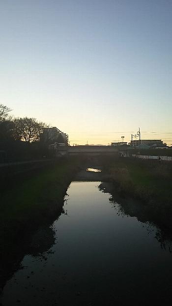 新年の空堀川