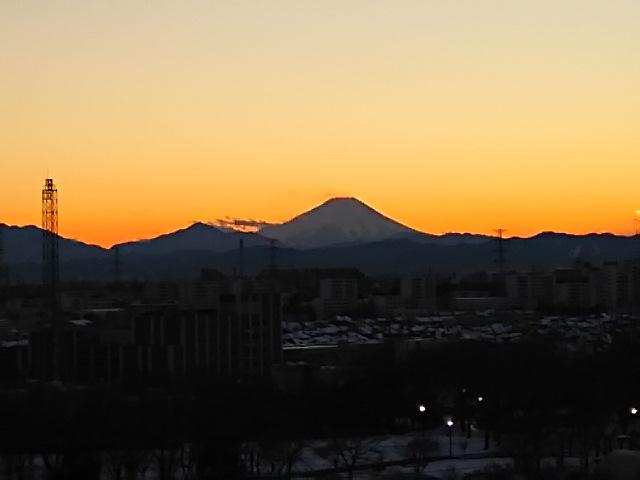富士の焼け