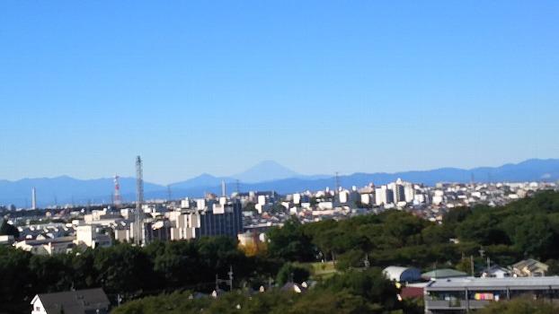 富士見えた