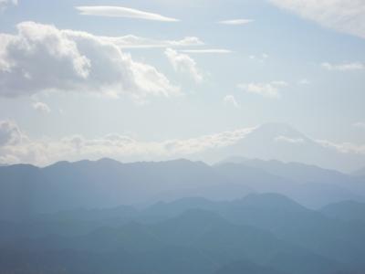 陣馬山か ら富士山