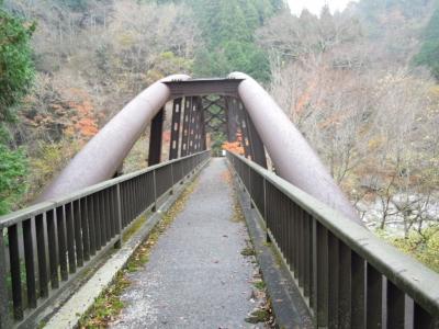ロッジ横からどこかの山への道