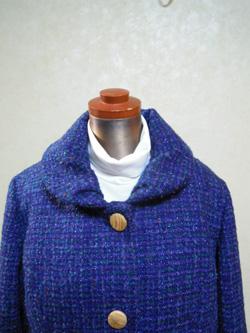 ツイードコート襟1512
