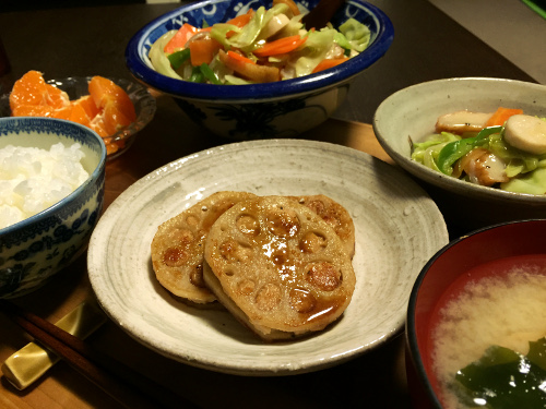 Nov30_蓮根の鶏はさみ焼き
