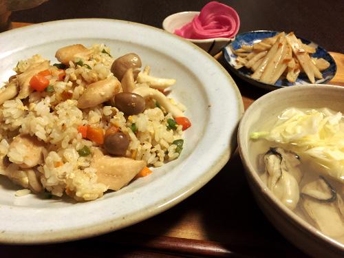 Dec14_鶏ささみの炒飯