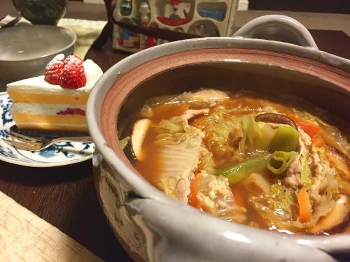Dec24_豚肉と白菜鍋