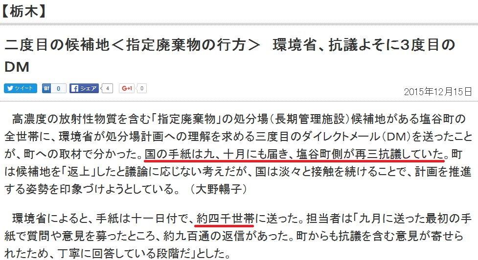 東京新聞栃木