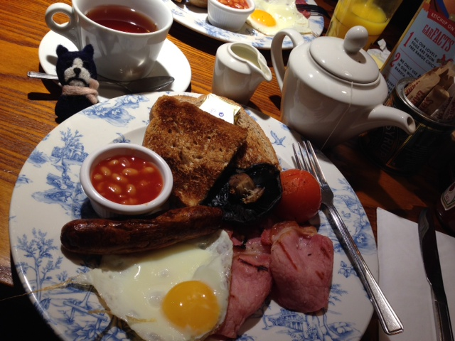 ロンドン朝ご飯