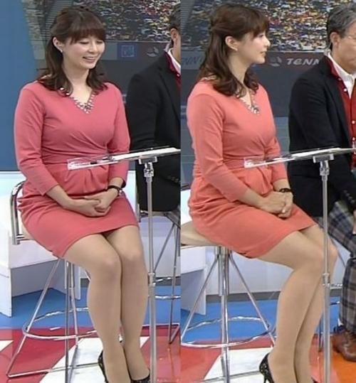 杉浦アナのムッチムチの身体wwwww