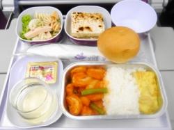 タイ航空機内食 エビ