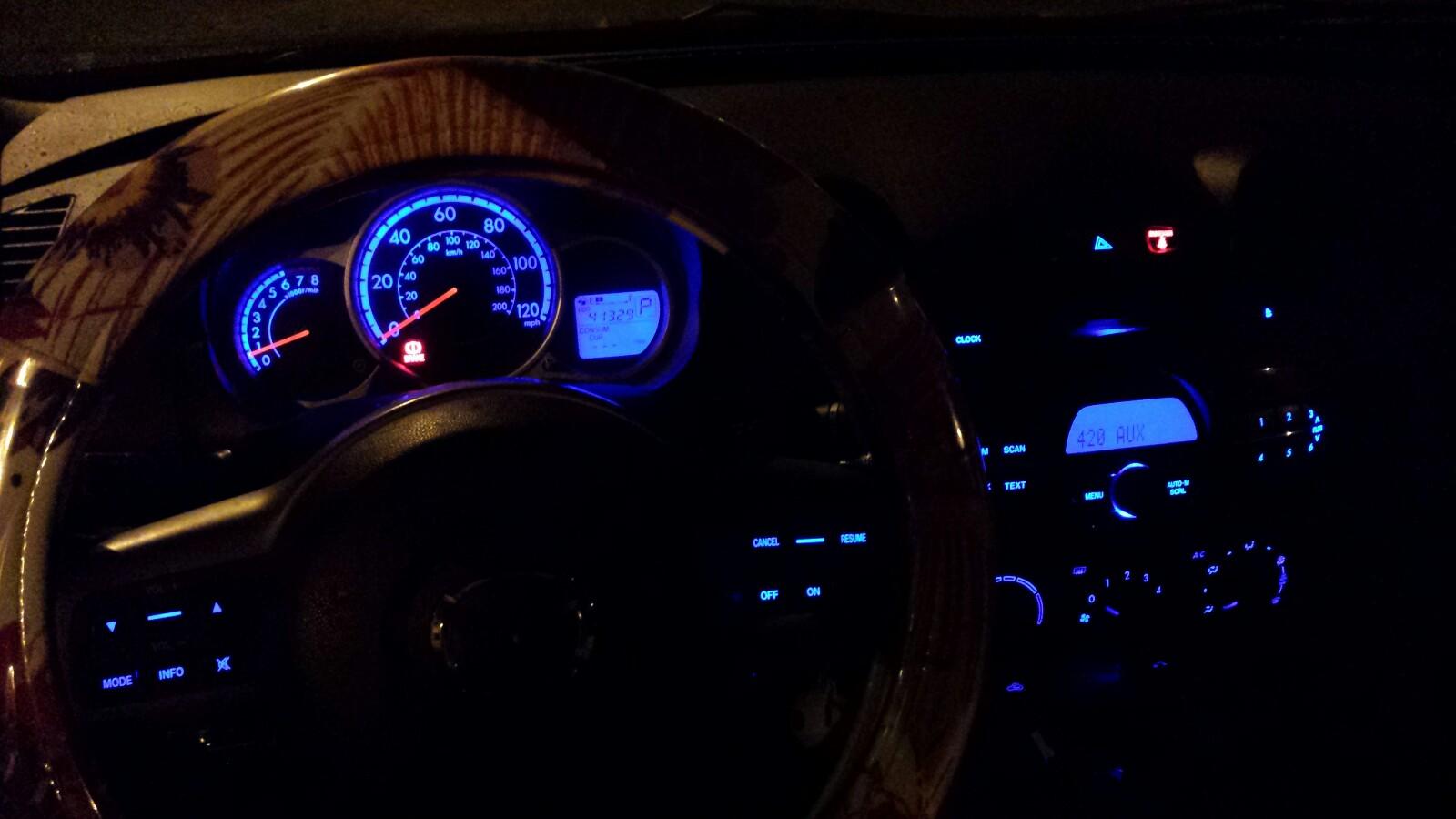 Mazda 2 Instrument Panel Blue LED
