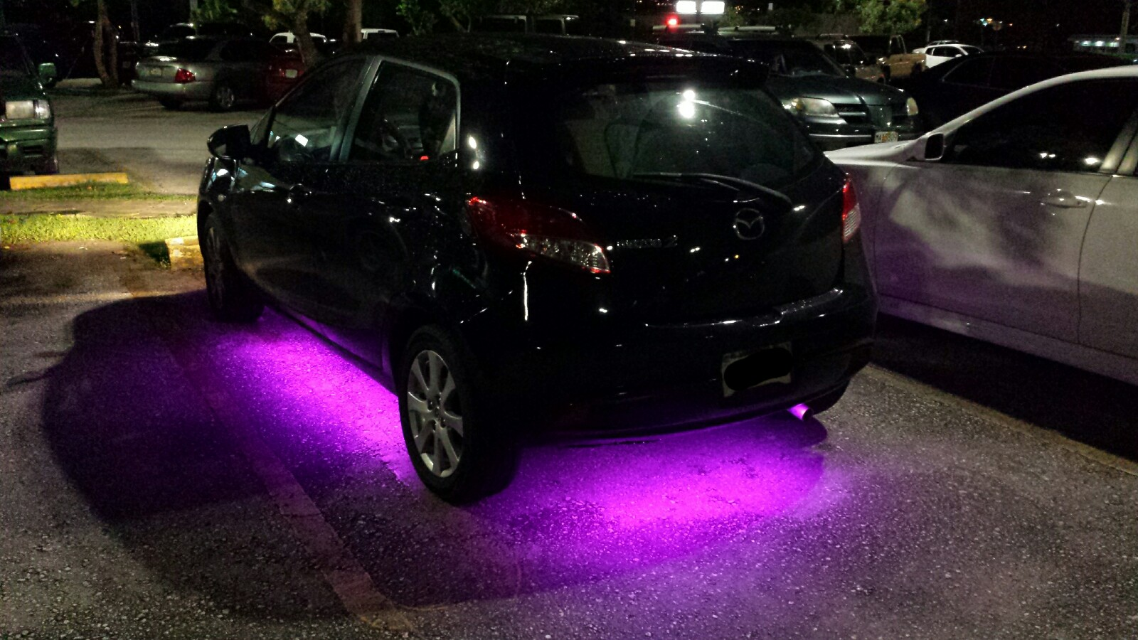 Mazda 2 Under Neon