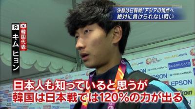 サッカー 韓国は120%