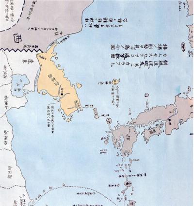 三国接洋地図 林子平 1785年