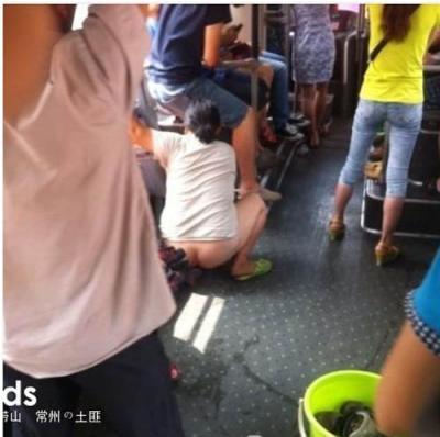 中国人 バス ウンコ オシッコ 排泄2