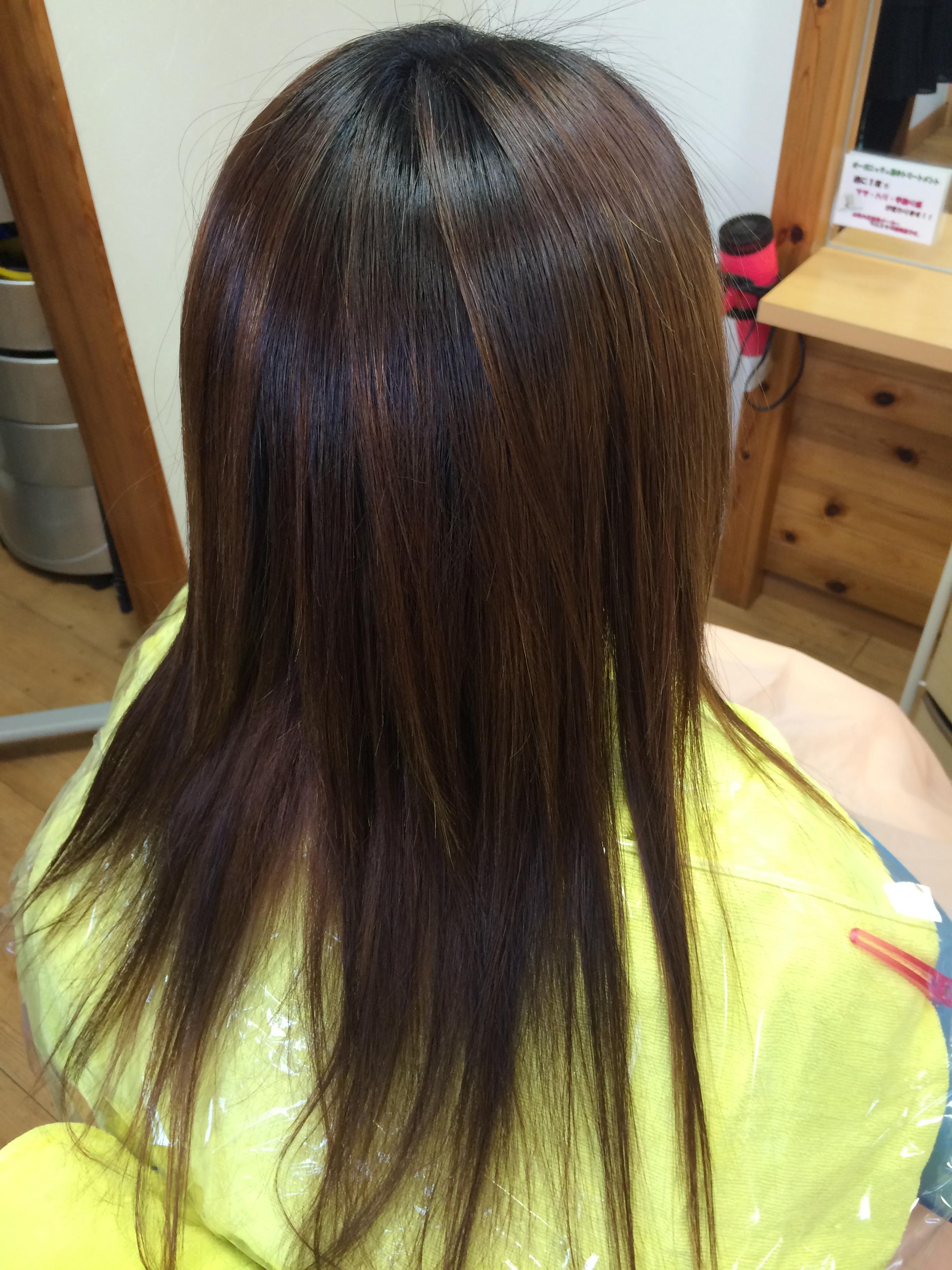 美しい髪になる縮毛矯正