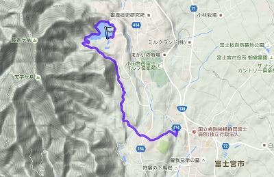 田貫湖から白糸の滝